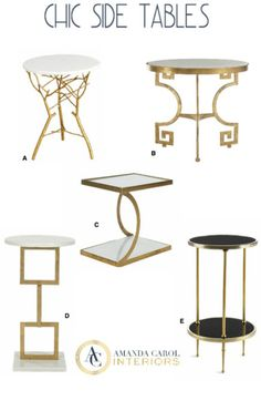 5 Chic Side Tables