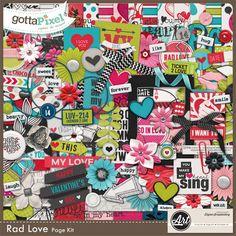 Designer Spotlight & Daily Download 4/11/16 - Gotta Pixel Rad Love Page Kit by Word Art World
