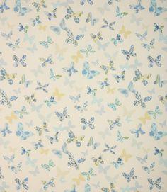 Butterfly Fabric / Cornflower | Just Fabrics