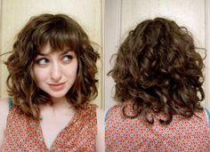 Short Haircuts with Bangs and Curly Hair curly bangs hairstyles 9 photo ha Curly Hair Cuts bangs curly hair Haircuts hairstyles photo short Wavy Short Haircuts With Bangs, Curly Bob Hairstyles, Hairstyles With Bangs, Relaxed Hairstyles, Hairstyle Ideas, 1950s Hairstyles, Straight Hairstyles, Bob Haircuts, Curly Lob Haircut