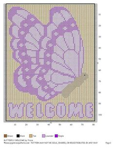 141 best images about Welcome signs plastic canvas on . Butterfly Cross Stitch, Beaded Cross Stitch, Butterfly Pattern, Plastic Canvas Crafts, Plastic Canvas Patterns, Needlepoint Patterns, Cross Stitch Patterns, Canvas Door Hanger, Breast Cancer Crafts