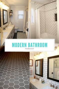 A clean modern bathr