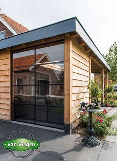 Overkapping_Lienden_(7)[1] Backyard Patio, Backyard Landscaping, Sas Entree, Diy Outdoor Furniture, Outdoor Decor, House Extension Design, Garden Office, Garden Buildings, House Extensions