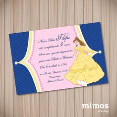 Convite Digital - Princesa Bela