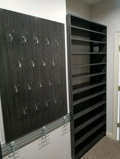 Our Client Wanted A Delegated Space To Display His Baseball Cap Collection.  On This Wall