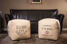 Mail Postal Poufs by Green Mountain Boho! Get yours on www.GreenMountainBoho.com