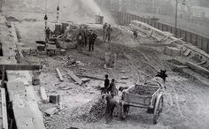 English Bridge widening 1927. Shrewsbury, Shropshire