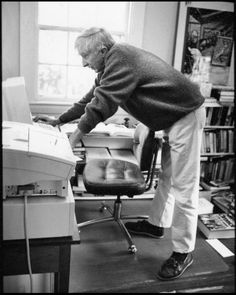 John Hoyer Updike (1932 –2009)  (Reminds me of my office -- if only I was as prolific as he was!)