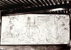 """Guernica, """"State One"""" photo by Dora Maar."""
