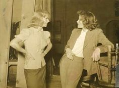 katharinehxpburn: A tiny rare picture of Kate & Ginger....