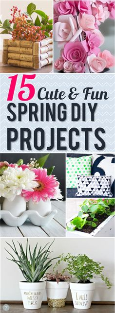These DIY Spring Projects are the perfect way to spruce up your home and get in the spring mood! So many cute DIY ideas for around the house :)