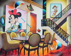 Original Painting Dining with Minnie by (Fernando de Jesus Oliviera) Ferjo