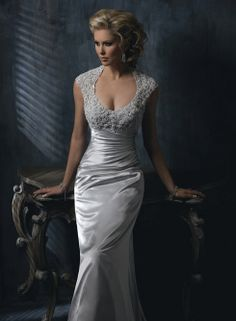 Rosalyn Bridal Gown - GORGEOUS TOP. but don't like satin :( if this was in all lace it would be perfect.