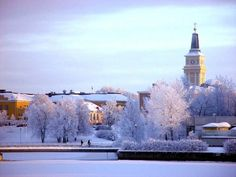 Oulu, Finland in the middle of January. My original hometown. Lappland, Santa Claus Village, Top 10 Destinations, Finland Travel, Travel Wallpaper, Dream City, Winter Scenes, Travel Goals, Study Abroad