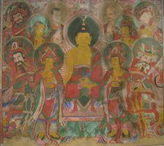 Korean Buddhist Religious Painting.  17, 18세기 추정 한국 불화