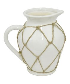Look at this Pitcher Netted Ceramic Flower Pot on #zulily today!