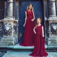 Cheap girls dress, Buy Quality birthday gowns directly from China flower girl Suppliers: 2017 New Flower Girl Dresses Appliques Red Sequined A-Line Cap Sleeves First Communion Kids Birthday Gown Custom Vestidos Longo Mother Daughter Shirts, Mother Daughter Dresses Matching, Mother Daughter Fashion, Prom Dresses 2017, Girls Dresses, Flower Girl Dresses, Hijab Evening Dress, Evening Dresses, Couture Dresses