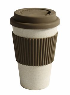 Nordal Bamboe beker 'To go' creme - 0,33 l
