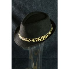 Fedora Hat Fall Winter Trend Fashion Leopard Band Hipster Hat Black $15 only  www.monrevecollection.com