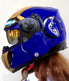 IRONMAN DOT & ECE MOTORCYCLE HELMET By Masei 830 Helmet Iron man for Suzuki, Kawasaki, Honda, KTM,....