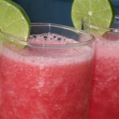 """Watermelon Cooler Slushy   """"Great and quick! My family loved this so much I had to make it twice. It is now one of the children's favorite. Wonderful at the end of a hot summer day."""""""