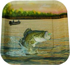 Gone Fishing Paper Plates - 9 Inch - 8 Pack