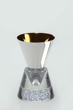 Carmel Gifts - Crystal Spiral Kiddush Cup from Caesarea Arts, $375.00 (http://www.carmelgiftshop.com/judaica-and-jewish-holidays/sabbath-and-holiday/crystal-spiral-kiddush-cup-from-caesarea-arts/)