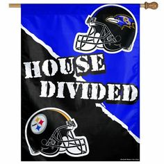 NFL Pittsburgh Steelers vs. Baltimore Ravens 27/37-Inch Vertical Flag, House Divided by WinCraft, http://www.amazon.com/dp/B0093JKWN4/ref=cm_sw_r_pi_dp_LryVqb1BGMP8D