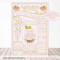 Pumpkin Poster Little Pumpkin Birthday Poster Pumpkin First Birthday Decor Pink Gold Sparkle Pumpkin Chalkboard Fall Pumpkin Poster by PixelPerfectionParty on Etsy https://www.etsy.com/listing/242965381/pumpkin-poster-little-pumpkin-birthday