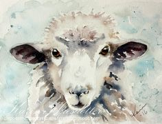 Résultat d'images pour Sheep Watercolor Watercolor Animals, Watercolor Cards, Watercolor Paintings, Watercolors, Sheep Paintings, Animal Paintings, Sheep Illustration, Sheep Art, Sheep And Lamb