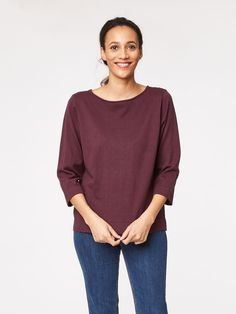 Jeanette Organic Cotton Wool Jumper Top