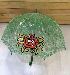 Paraguas infantil Kukuxumusu, transparente. www.patasarribashop.com