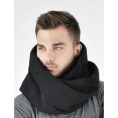 czarny bawełniany komin od Reykjavik District - polscy projektanci / polish fashion designers - ELSKA