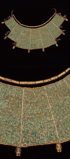 Peru | Moche beaded pectoral | 100 - 800 AD