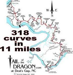 Ride the Tail of the Dragon while you're in the Murphy, NC area!