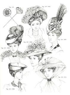 Hats styles around 1906-1910