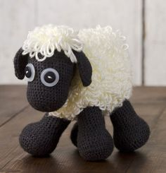 Caron International | Free Simply Soft® Project | Sheep Toy have got to make this for friends youngest son!!!! He would love it!!!! Got to learn to crochet!!!!
