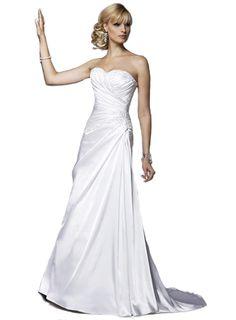 Strapless Wedding Dress.A line
