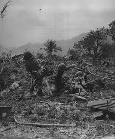 1944 Saipan The US Marines throw grenades on Japanese positions
