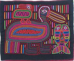 Seagull Mola made by Kuna (Cuna) Indian people of Panama's San Blas Islands.