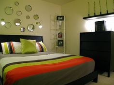 elegant small bedroom ideas with green nuances