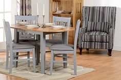 New Oxford Extending Dining Set in Grey/Natural Oak/Grey Fabric 4 Chairs Free Del Dining Furniture Sets. Fashion is a popular style Dining Set, Dining Table, Dining Furniture Sets, New Oxford, Grey Fabric, Home And Garden, Fabric Chairs, Natural, Toddlers