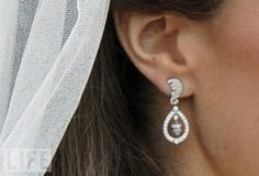 the earrings...a gift from her parents