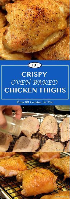 Crispy Oven Baked Chicken Thighs | 101 Cooking For Two