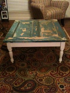 door coffee table - like this! repinned from Denise Kenyon