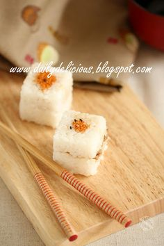Chicken Farm Baker's Project # February Snack Box: Open it and fall in love (with ME), again: Ginger rice ball Rice Sandwich Recipe, Sandwich Recipes, Rice Balls, Snack Box, Sushi, Sandwiches, Snacks, Chicken, Sweet