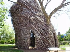 Life at 55 mph: Stickwork sculpture by Patrick Dougherty in Lawrence, Kansas (click here for more info) | this was a temporary piece on the KU campus  2010-11