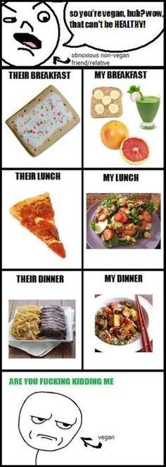 Vegane Ernährung kann nicht gesund sein...