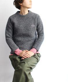 gray fleece, khaki pants