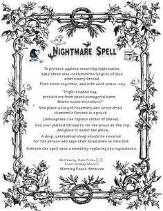 Magick Spells:  Nightmare #Spell.